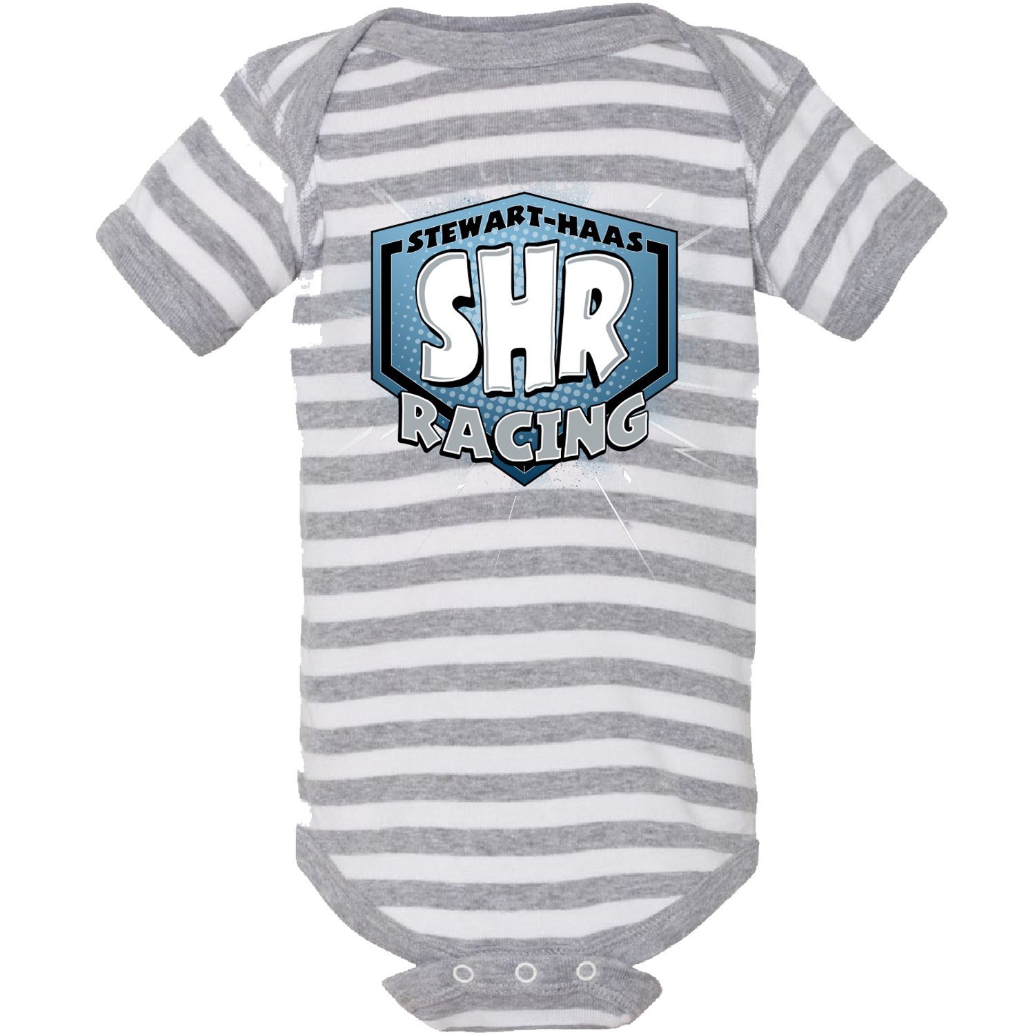 Exclusive Stewart-Haas Racing Grey Stripe Onesie