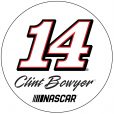 "Clint Bowyer #14 Stewart-Haas Racing 4"" Round Paper Coasters"