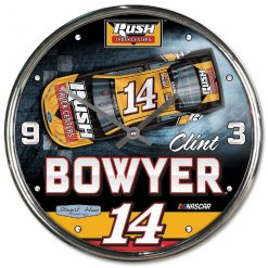 Clint Bowyer Rush Truck Centers Stewart-Haas Racing Chrome Wall Clock