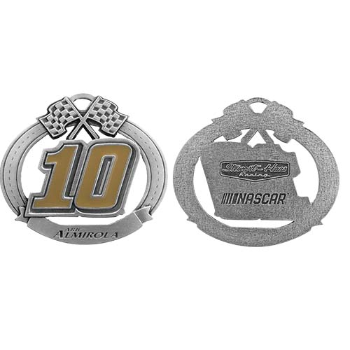 Aric Almirola Stewart-Haas Racing Pewter Christmas Ornament