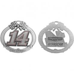 Clint Bowyer Stewart-Haas Racing Pewter Christmas Ornament
