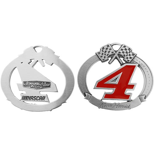 Kevin Harvick Stewart-Haas Racing Pewter Christmas Ornament