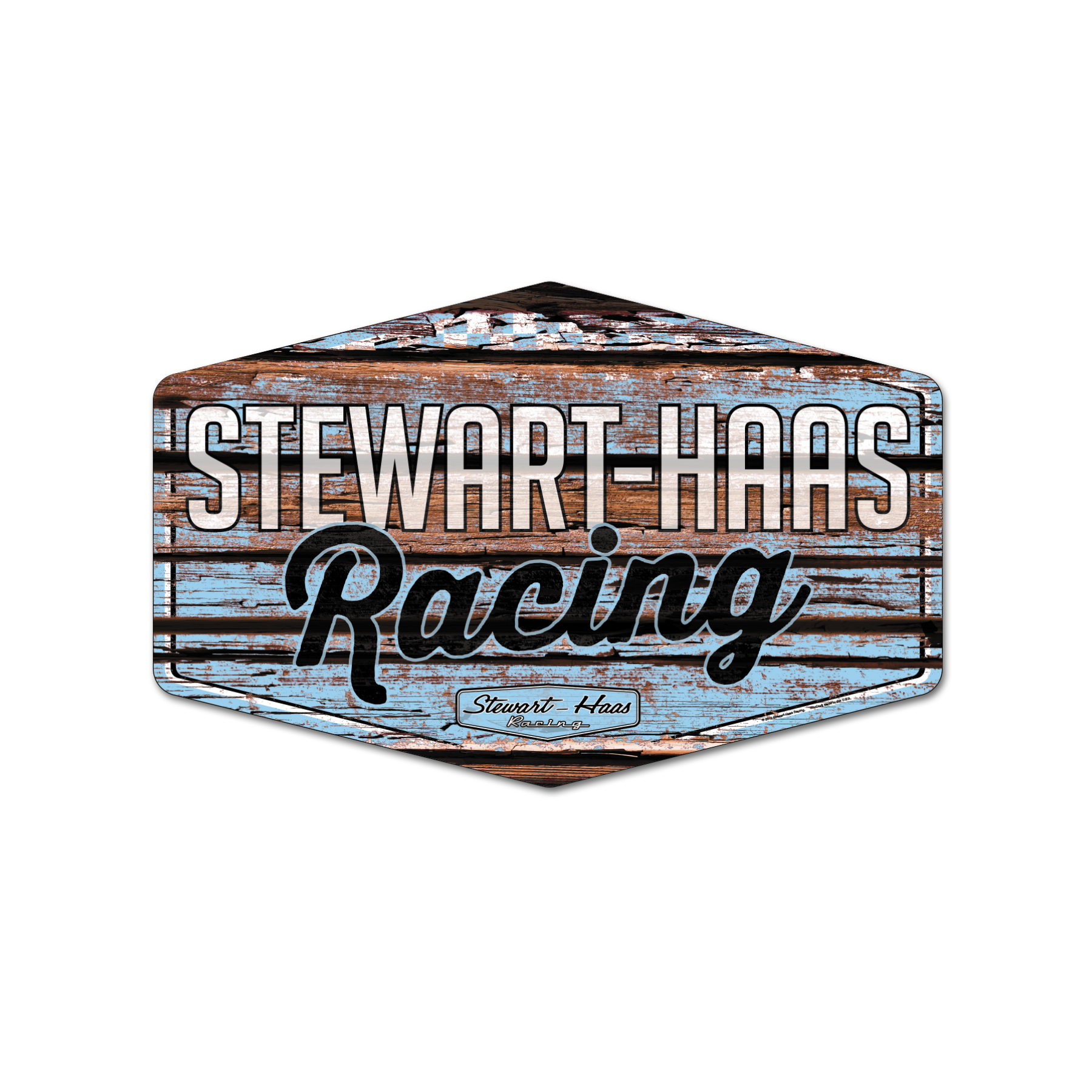 Exclusive Stewart-Haas Racing 11X17 Wooden Sign