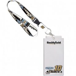 Aric Almirola 2019 Smithfield Stewart-Haas Racing Lanyard and Holder with Buckle
