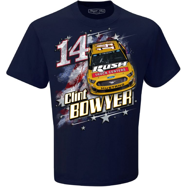 Clint Bowyer 2019 Rush Truck Centers Stewart-Haas Racing Patriotic Tee