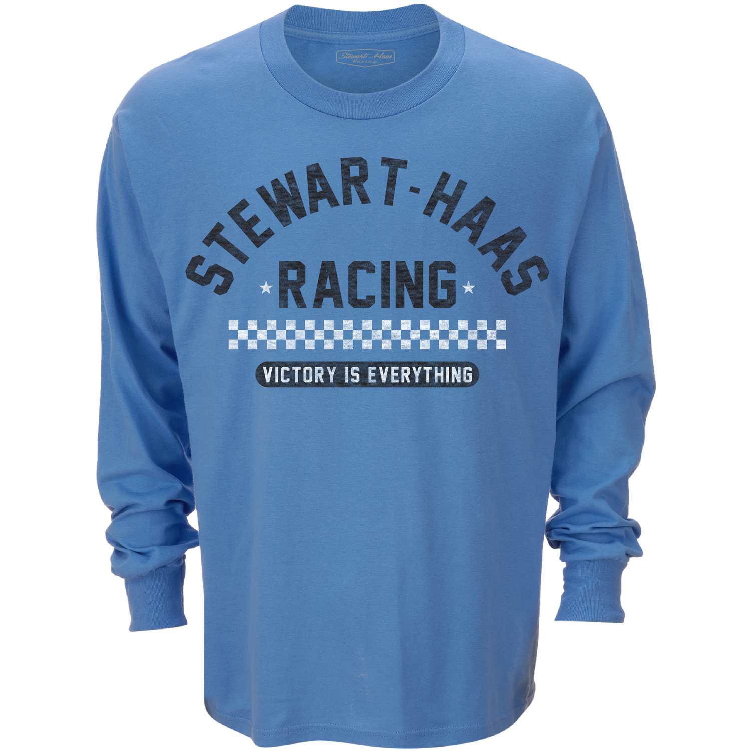 Exclusive Stewart-Haas Racing Blue Victory Long Sleeve Tee