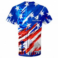 Kevin Harvick 2019 Stewart-Haas Racing American Red White & Blue Sublimated Tee