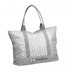 Clint Bowyer 2019 Stewart-Haas Racing Gray Ikat Tote Bag