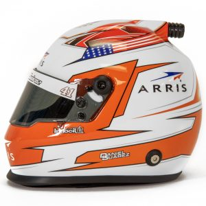 Daniel Suarez 2019 Arris Steawrt-Haas Racing Mini Replica Helmet