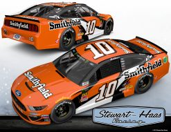 Aric Almirola 2019 Smithfield Stewart-Haas Racing Darlington Throwback 1/24 Scale HO Diecast