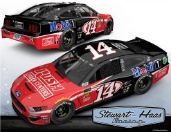 Clint Bowyer 2019 Rush Truck Centers Stewart-Haas Racing Darlington Throwback 1/24 Scale Elite Diecast