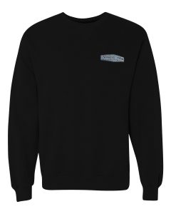 SHR Logo Black Crew Neck Sweatshirt