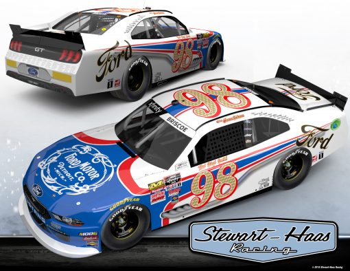 Chase Briscoe Xfinity 2019 Ford Motor Company Stewart-Haas Racing Darlington Throwback 1/24 Scale HO Diecast