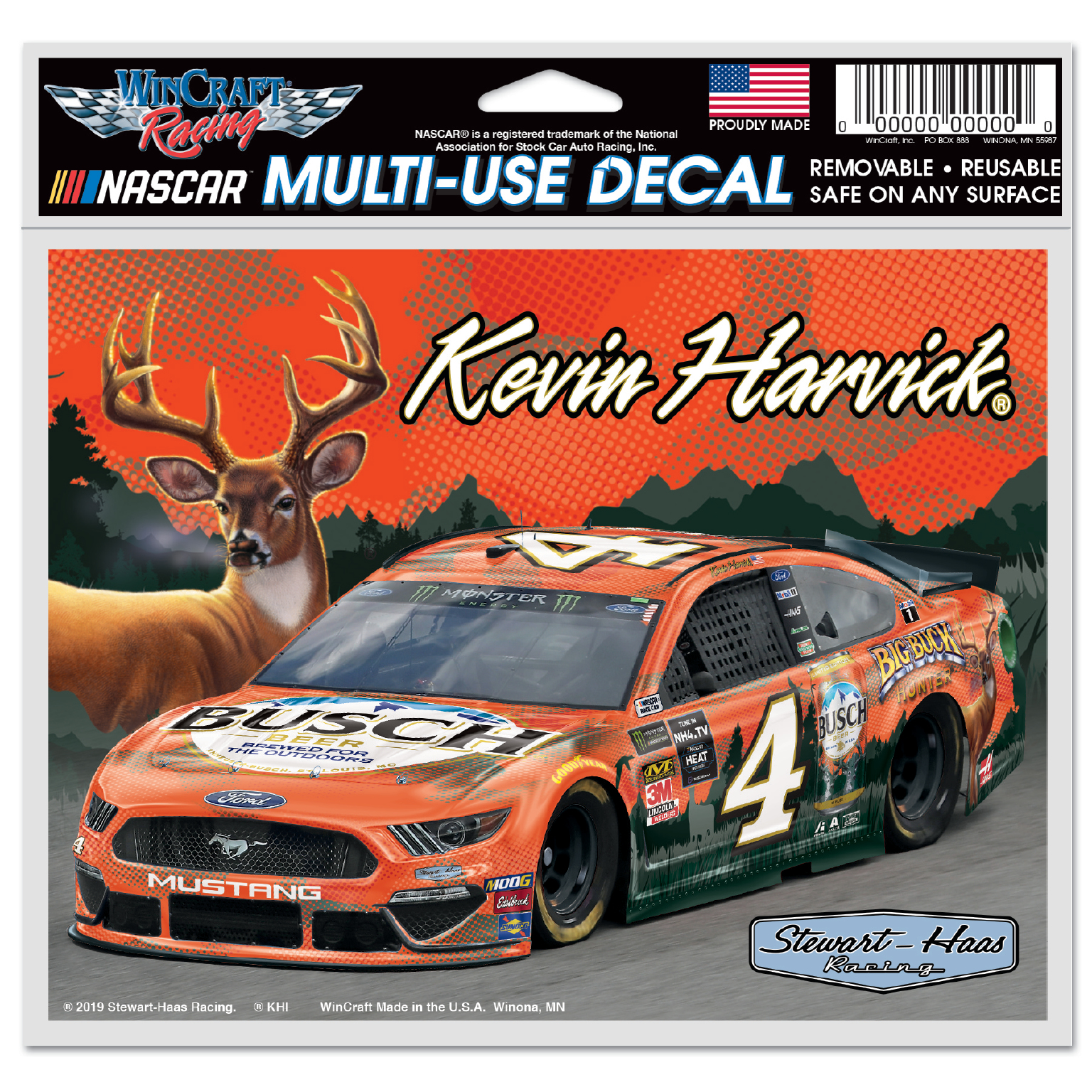 Kevin Harvick 2019 Busch Stewart-Haas Racing Big Buck Hunter Decal