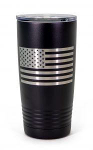 Exclusive Stewart-Haas Racing Black Tumbler with Flag