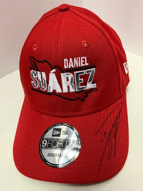 Daniel Suarez 2019 New Era Stewart-Haas Racing Red Hat Autographed