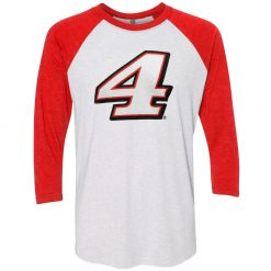 Kevin Harvick 2019 Stewart-Haas Racing 3QTR Red 4 Raglan Shirt