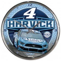 Kevin Harvick 2020 Busch Light Stewart-Haas Racing Chrome Wall Clock