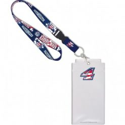 Kevin Harvick 2020 Stewart-Haas Racing Patriotic Credential Holder w/Lanyard & Buckle