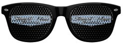 SHR Black Retro Sunglasses