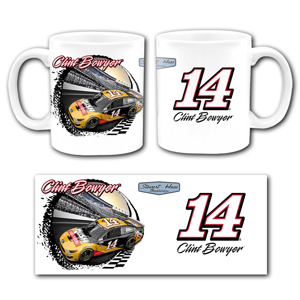 Clint Bowyer 2020 Rush Truck Centers Stewart-Haas Racing Sublimated Mug