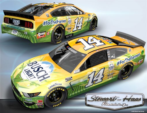 Clint Bowyer 2020 Busch Light #ForTheFarmers Stewart-Haas Racing 1/24 Scale HO Diecast
