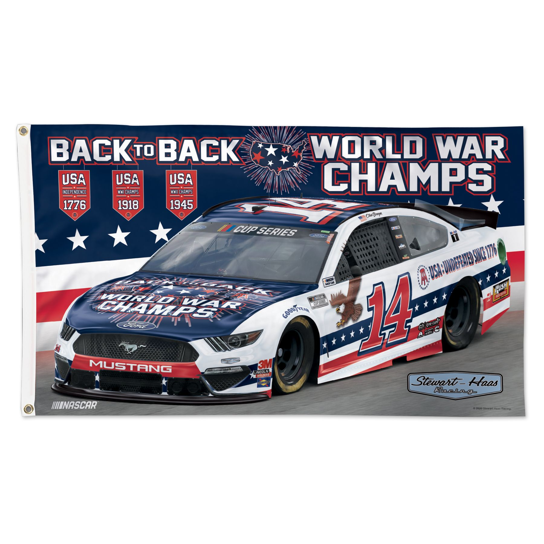 Clint Bowyer 2020 Barstool Stewart-Haas Racing 3X5 Flag