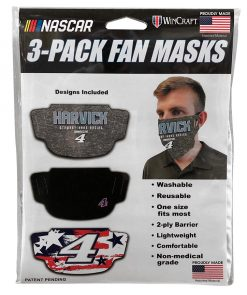 Kevin Harvick Stewart-Haas Racing 3-Pack Face Masks