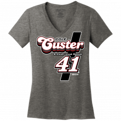 Cole Custer 2021 #41 Stewart-Haas Racing Ladies Disco V-neck Tee